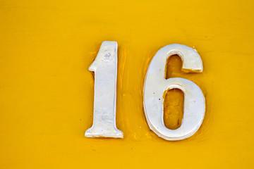 number sixteen