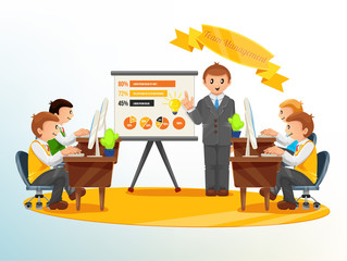 Vector Team Management Illustration