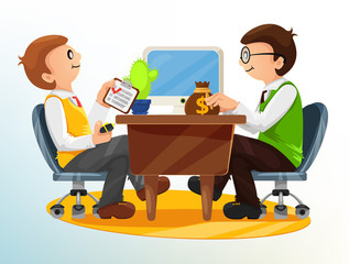 Vector Business Deal Illustration
