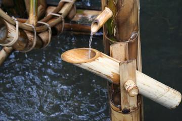 wheel bamboo turbine use water
