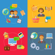 vector business concept flat Icons set