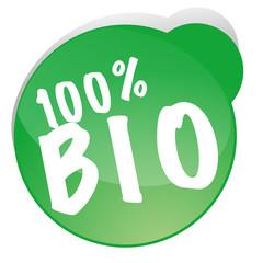 100 % BIO Button