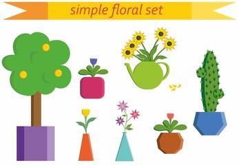 Simple floral set