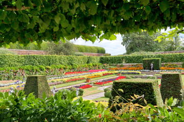 Sunken Garden at Hampton Court Palace, UK