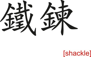Chinese Sign for shackle