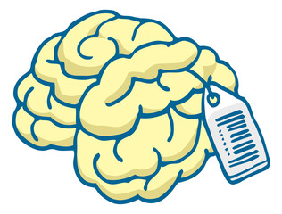 Brain for sale with price tag