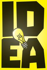 Big idea on shiny light bulb