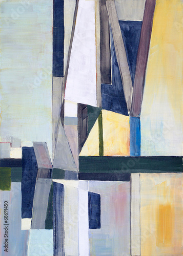 an abstract painting Poster