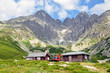 canvas print picture - High Tatra mountains and Lomnicky Stit, Slovakia, Europe