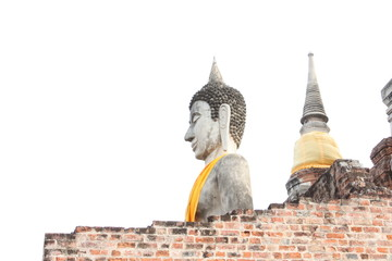 Buddha image in front of Big pagoda