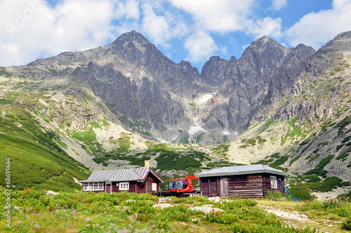 canvas print picture High Tatra mountains and Lomnicky Stit, Slovakia, Europe