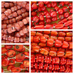 red coral necklaces  pattern