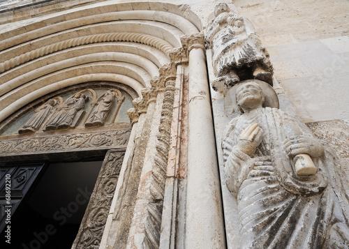 canvas print picture Portal der Kirche Sveti Donat in Zadar