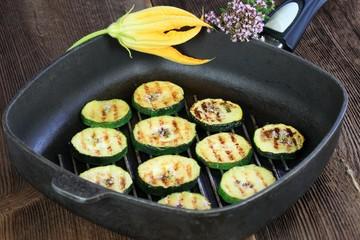 Grilled zucchini & oregano