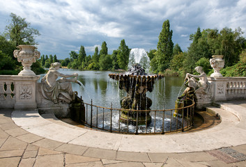 The Italian Gardens at Hyde Park in London