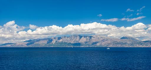 Sailing yacht around Lefkada island