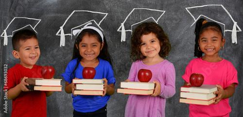 Children With Books - 68693032