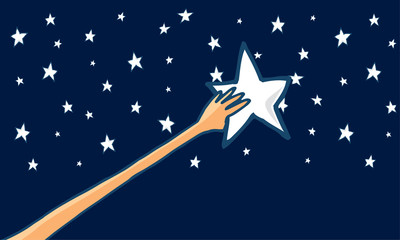 Reach for the stars or success - Horizontal