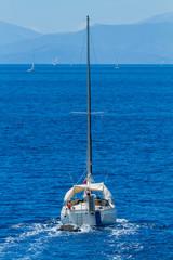 Sailing around Lefkada island i