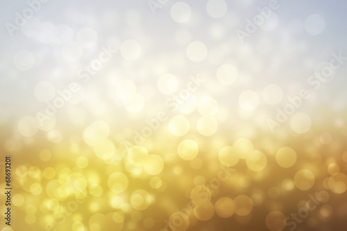 Poster Licht, schaduw abstract sunny landscape background with glitter bokeh lights