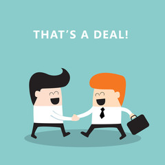 Business people shaking hands Businessmen making a deal concept