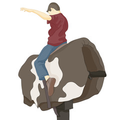 Bull Riding Man