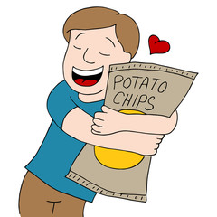 Man Loves Potato Chips