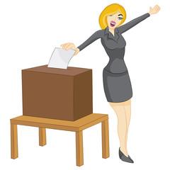 Woman Casting Vote