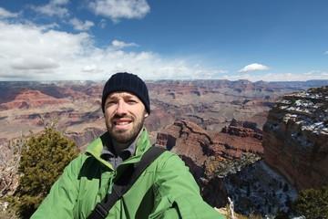 Tourist selfie in Arizona - Grand Canyon