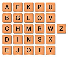 Holzbuchstaben Spiel, vektor vorlage