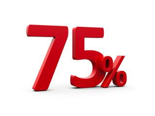 Red seventy five percent