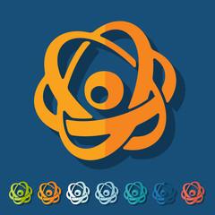 Flat design: atom
