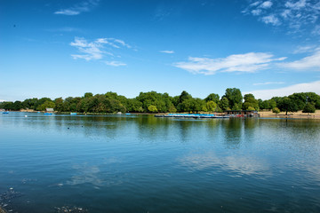 The Serpentine Lake at Hyde Park in London