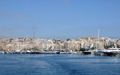 Malta, the picturesque bay of Valetta