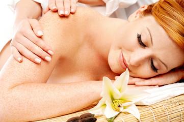 Preety woman in spa treatment