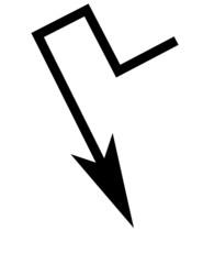 A simple black arrow design