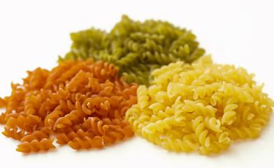 Macarrones en tres colores