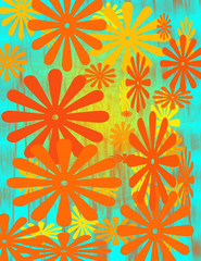 A colorful abstract two dimensional background image