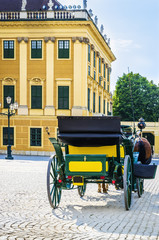 Horse carriage near Schonbrunn palace, Vienna, Austria