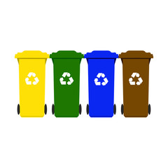 Garbage containers for recycling