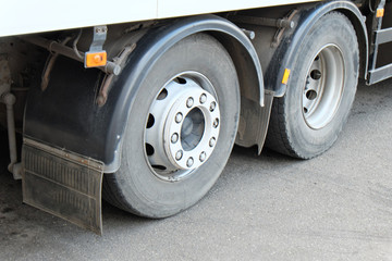 Whells of a truck closeup image