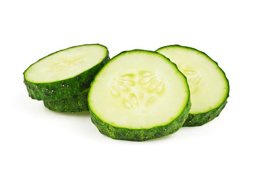 slices of cucumber