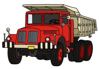 Classic dumper truck