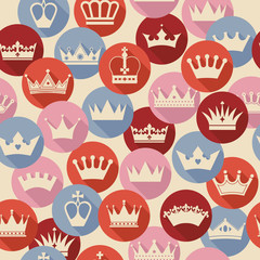 Seamless abctract crowns pattern