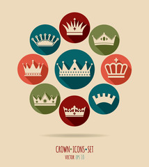 Crowns vintage set.