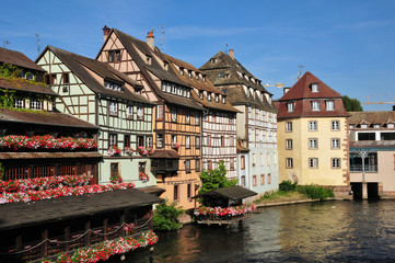 Bas Rhin, the picturesque city of Strasbourg in Alsace