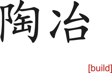 Chinese Sign for build
