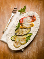 mixed grilled vegetables with scamorza cheese