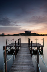 Sunset and the Wooden Jetty
