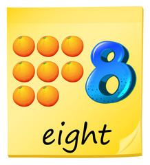 Eight oranges